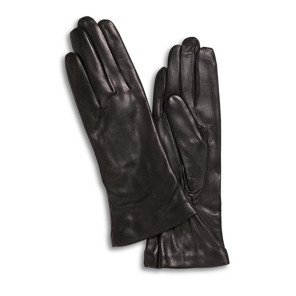 Lamslederen handschoenen nero