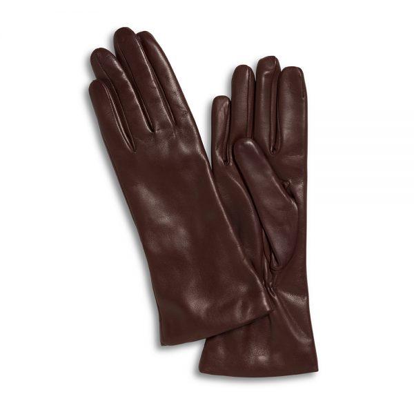 Lamslederen handschoenen cognac