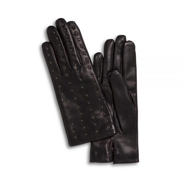 Lamslederen handschoenen met studs